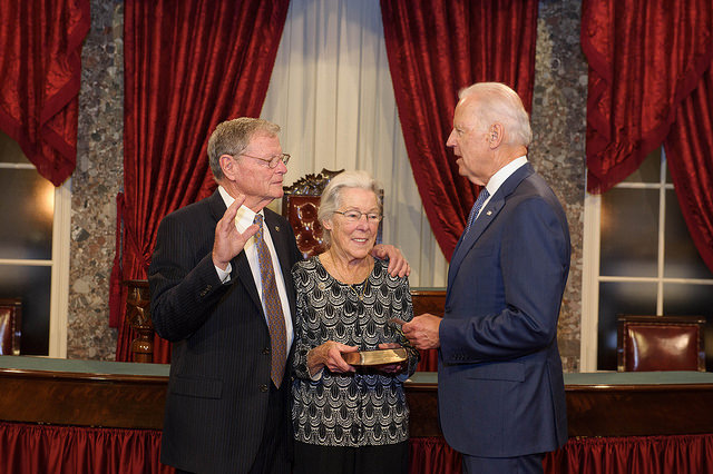 Inhofe is sworn in for his fourth full term