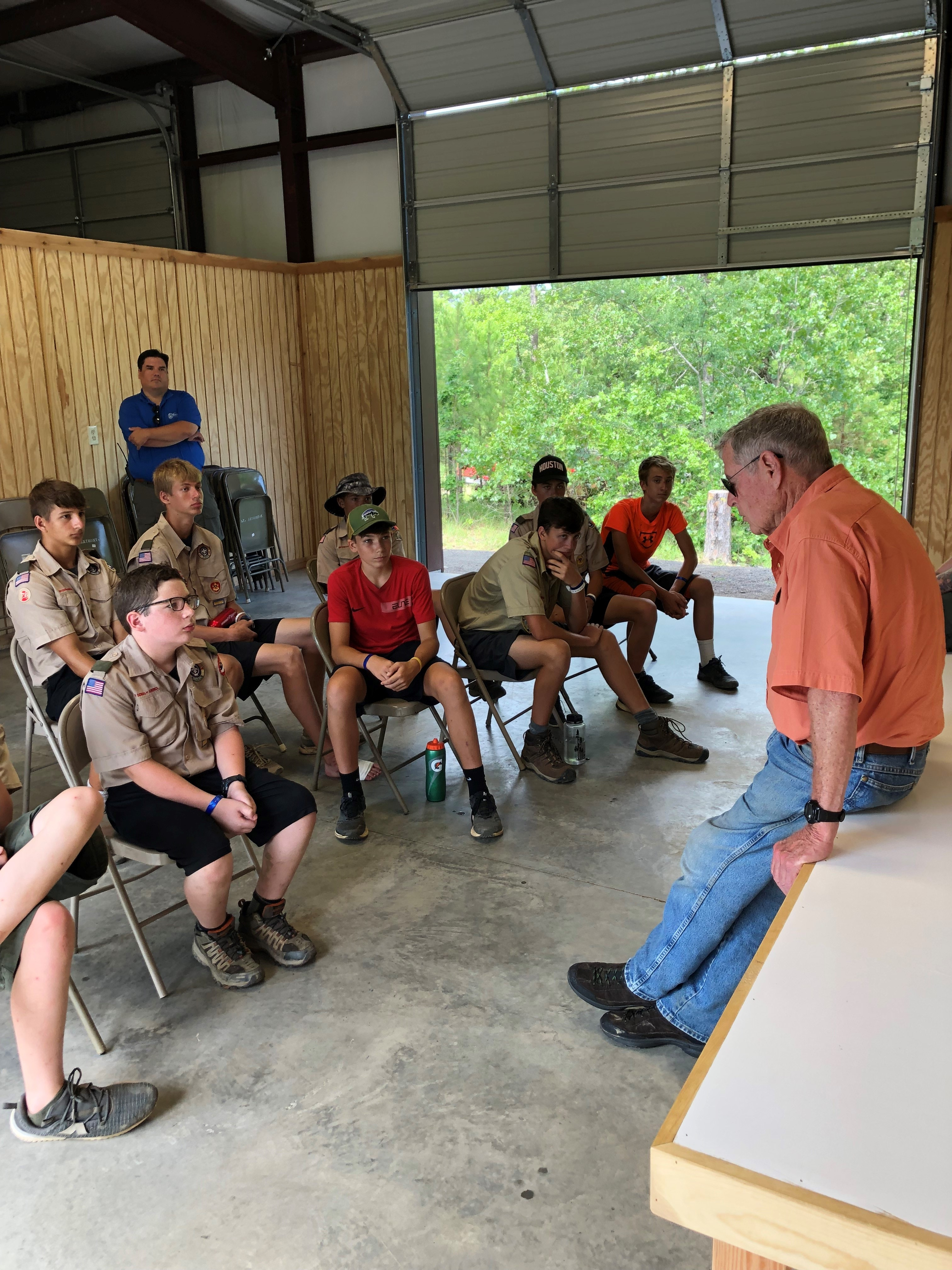 Inhofe Visits with Boy Scouts at Hale Scout Reservation 1