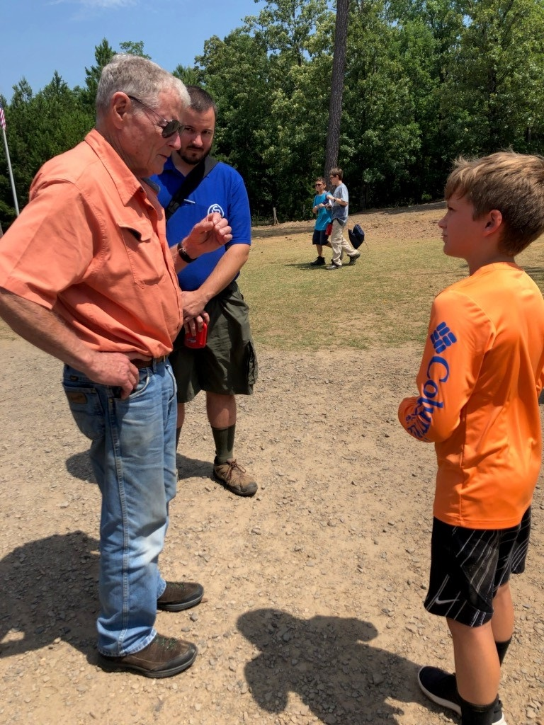 Inhofe Visits with Boy Scouts at Hale Scout Reservation 2