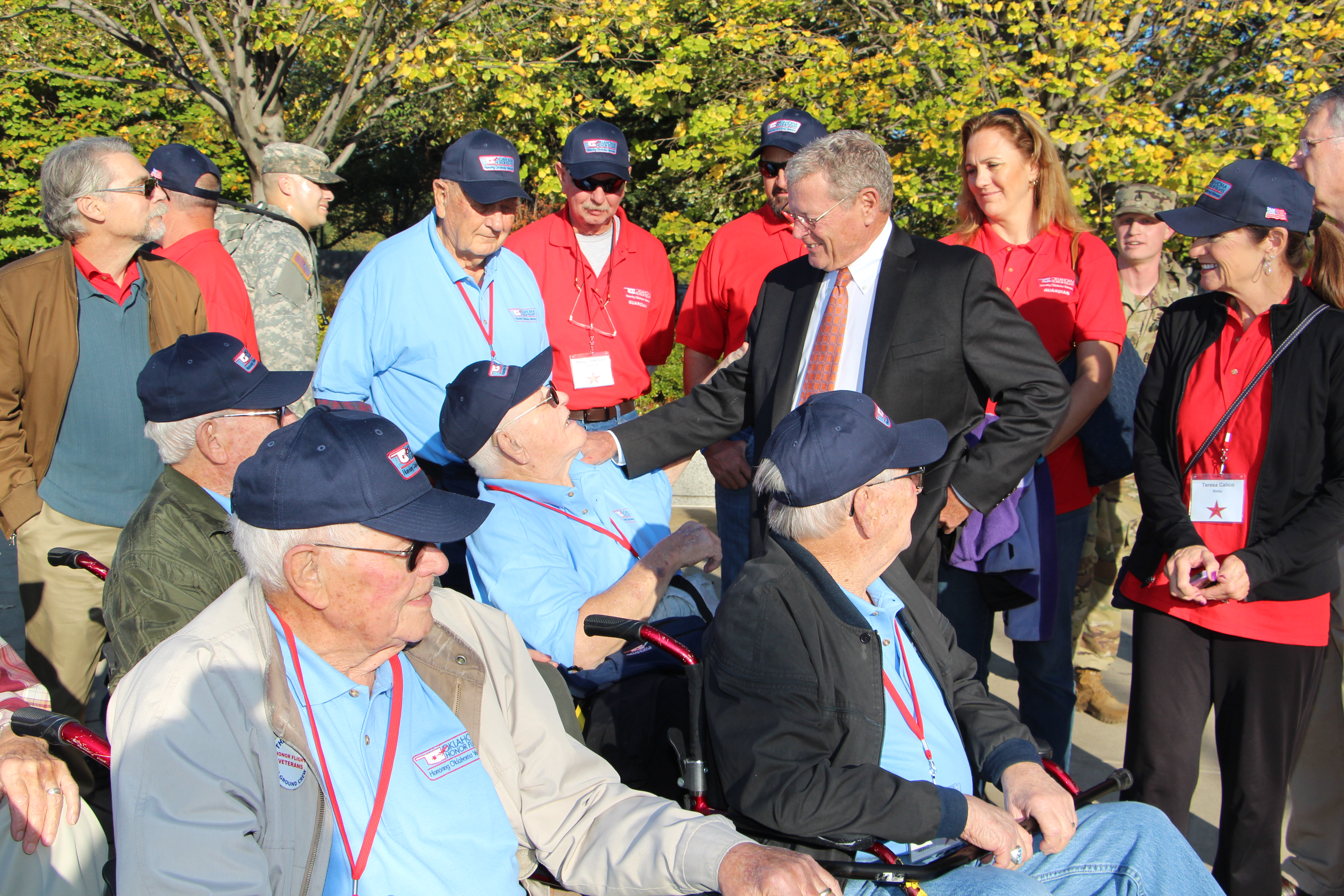 Inhofe Welcomes Oklahoma Veterans Participating in Honor Flight