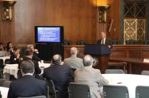 Sen. Inhofe speaks to the State Chamber of Oklahoma in Washington, D.C.