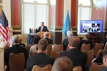 Inhofe spoke to the Oklahoma chamber during their Washington fly-in.