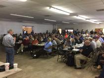 Inhofe addressed cattlemen at the FSA/OK Cattlemen lunch in Buffalo, Oklahoma. They heard from FSA Wildfire Relief and the OK Cattlemen's Association.