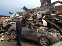 Inhofe in Moore Following Tornadoes, May 20, 2013