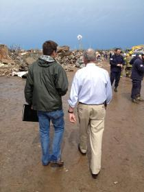 Inhofe in Moore Following Tornadoes