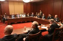 Sen. Inhofe meets with community leaders from Enid, Oklahoma in the U.S. Capitol.